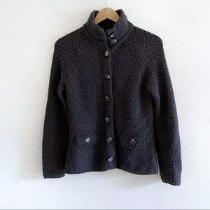 Ann Taylor Merino Knit Wool Button Sweater